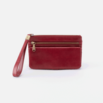 Roam Red Leather Clutch-Wristlet