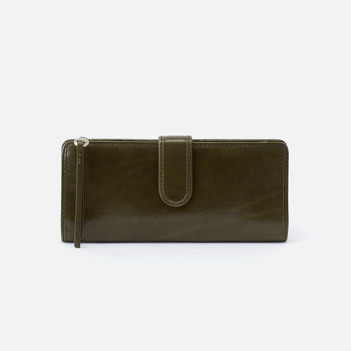 Roman Green Leather Wallet