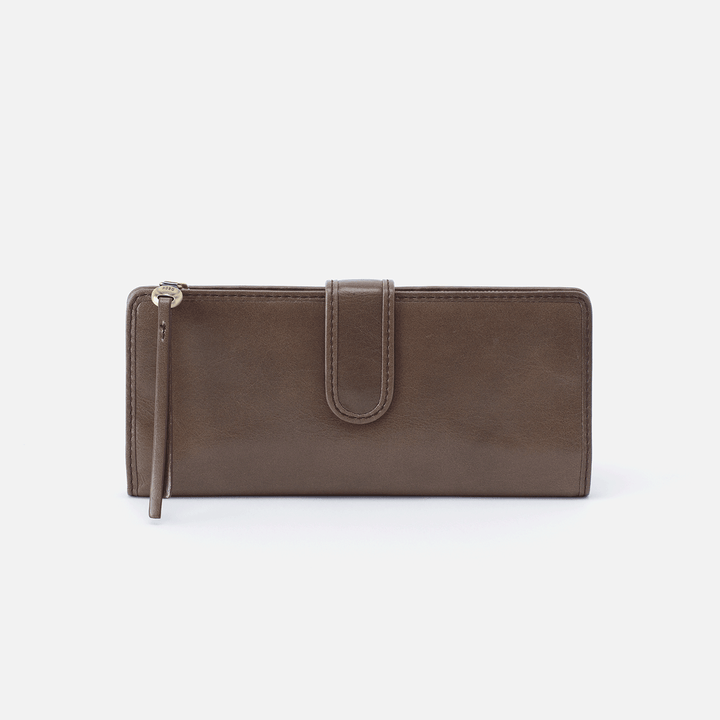 Roman Grey Leather Wallet