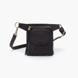 Romeo Black Leather Belt Bag