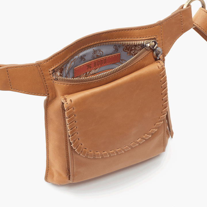 Romeo Cognac Brown Leather Belt Bag