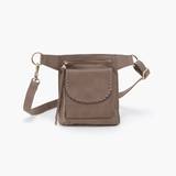 Romeo Grey Taupe Leather Belt Bag