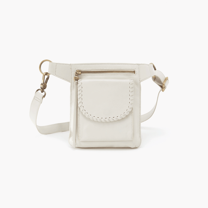 Romeo White Leather Belt Bag