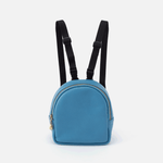 Rover Dusty Blue Leather Dog Backpack