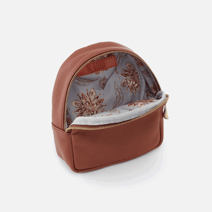 Rover Toffee Leather Dog Backpack