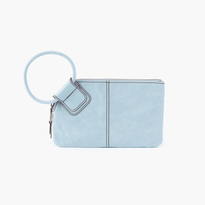 Sable Blue Leather Clutch Wristlet