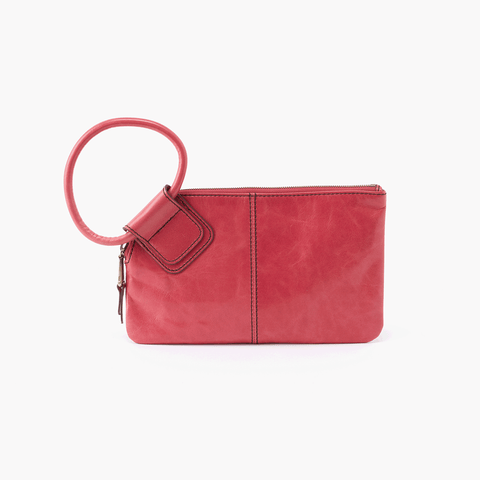 Sable Pink Leather Clutch Wristlet