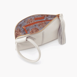 Sable White Leather Clutch Wristlet