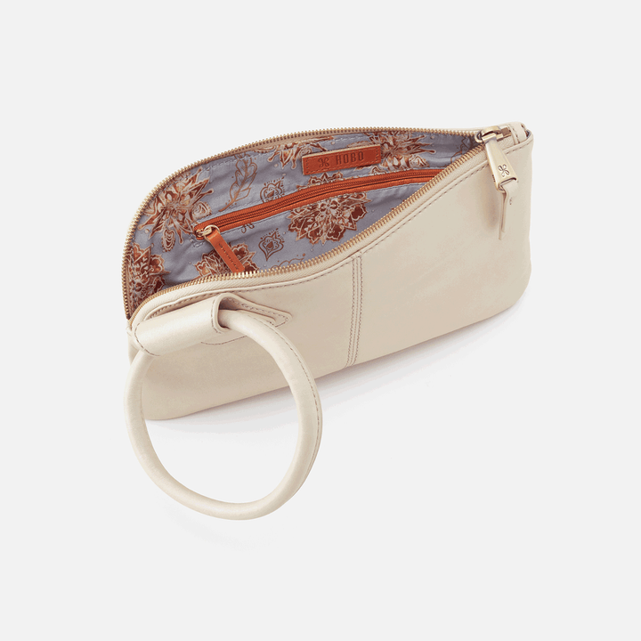 Sable Sandshell Leather Wristlet