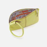 Sable Lemongrass Leather Wristlet