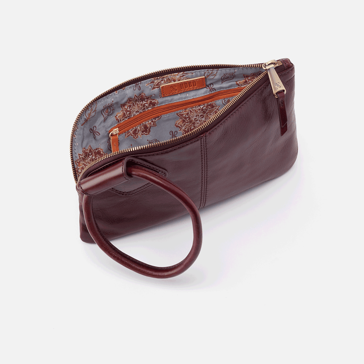Deep Plum Sable Wristlet  Hobo