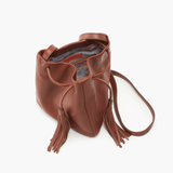 Sander Brown Leather Small Crossbody