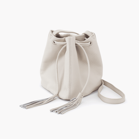 Sander White Leather Small Crossbody