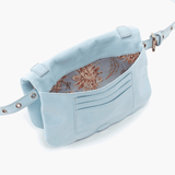 Saunter Blue Leather Belt Bag