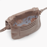 Saunter Grey Taupe Leather Belt Bag