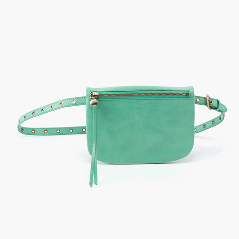 Saunter Light Green Leather Belt Bag