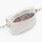 Saunter White Leather Belt Bag