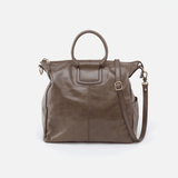 Sheila Grey Leather Crossbody & Shoulder Bag