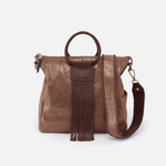 Sheila Metallic Brown Leather Crossbody & Shoulder Bag