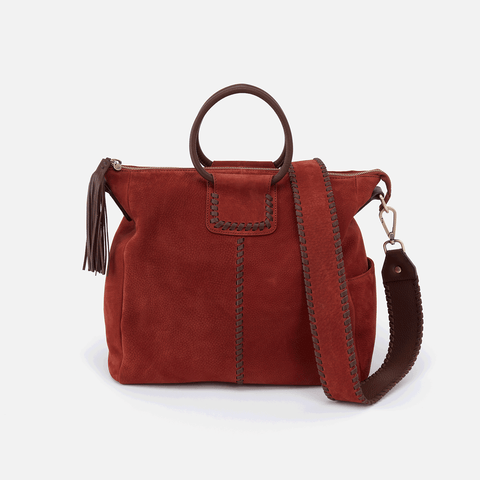 Sheila Red Suede Leather Crossbody & Shoulder Bag