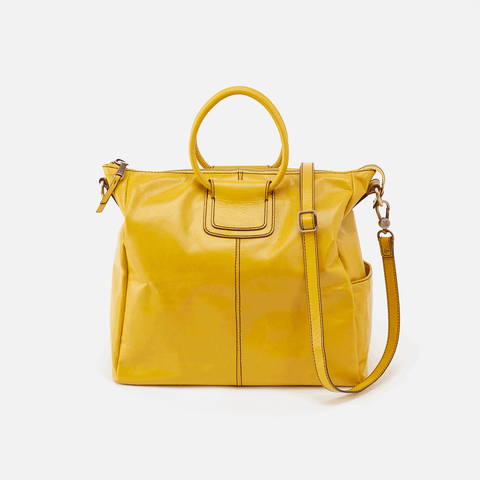 Sheila Yellow Leather Crossbody & Shoulder Bag