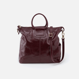 Sheila Purple Leather Travel Bag