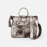 Sheila Silver Leather Travel Bag