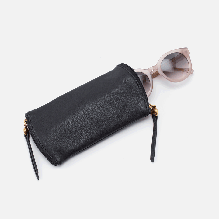 Spark Black Leather Glasses Case