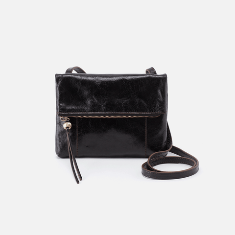 Sparrow Black Leather Small Crossbody