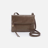 Sparrow Grey Leather Small Crossbody