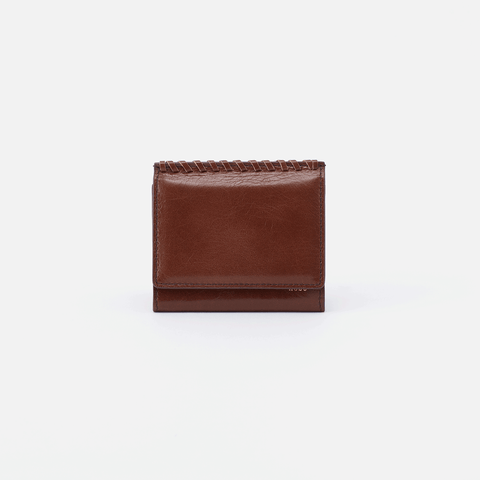 Stitch Brown Leather Small Wallet