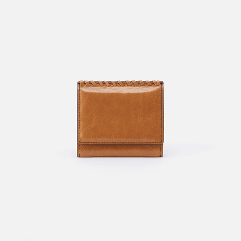 Stitch Cognac Brown Leather Small Wallet