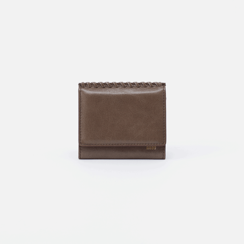 Stitch Grey Leather Small Wallet