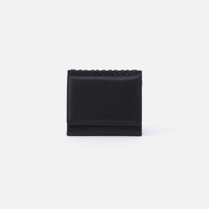 Stitch Black Leather Wallet