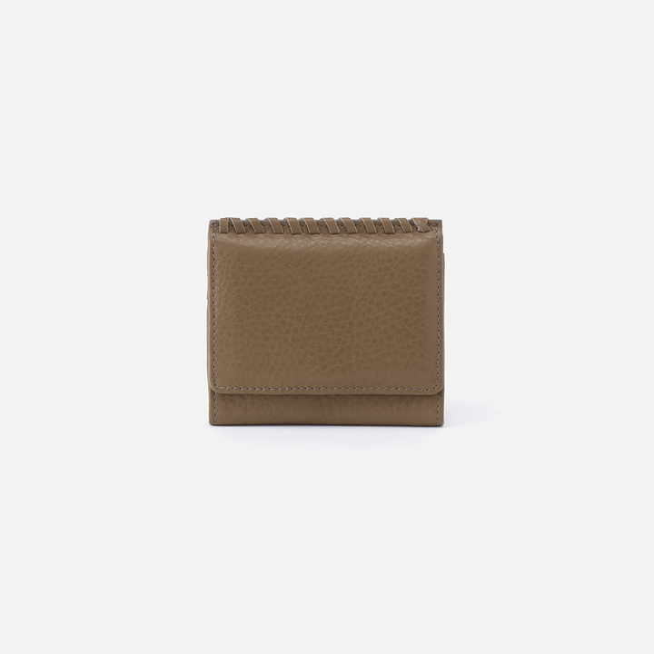 Stitch Grey Leather Wallet