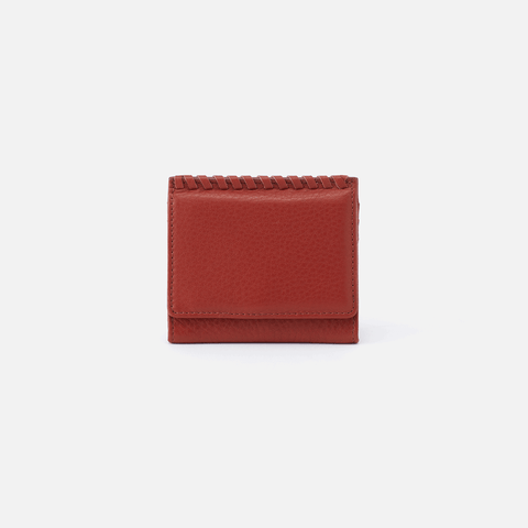 Stitch Sienna Red Leather Wallet