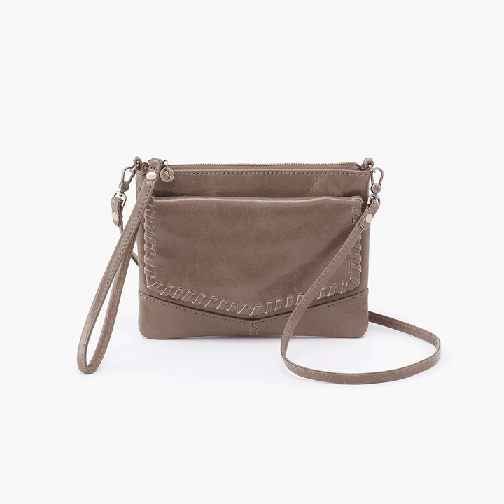 Stroll Grey Taupe Leather Small Crossbody
