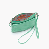 Stroll Light Green Leather Small Crossbody