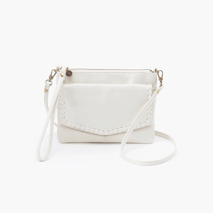 Stroll White Leather Small Crossbody