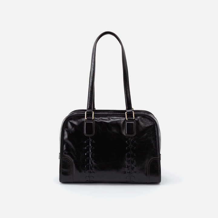 Sutton Black Leather Shoulder Bag