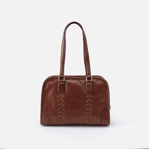 Sutton Brown Leather Shoulder Bag