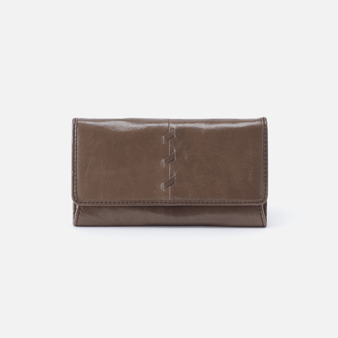 Tally Grey Leather Wallet