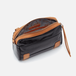 Tandem Black Leather Bike Bag