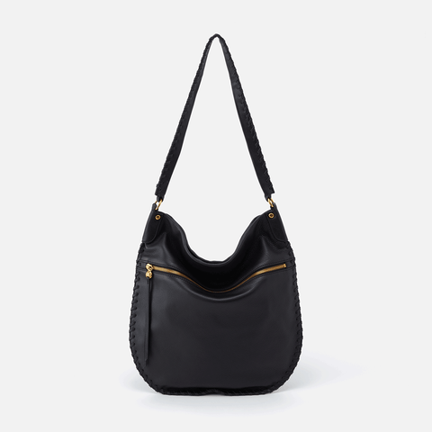 Tide Black Leather Shoulder Bag