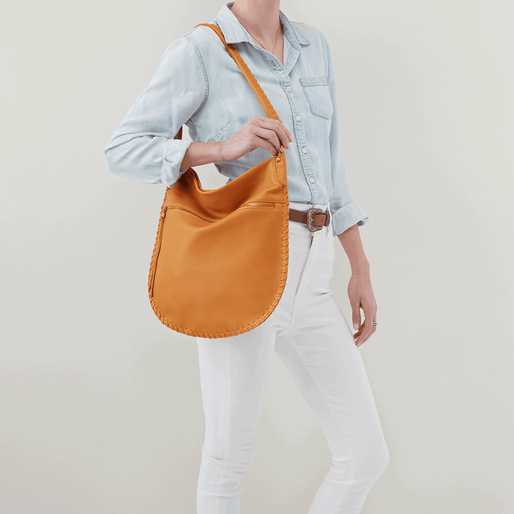 Tide Butterscotch Leather Shoulder Bag