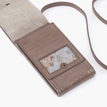 Token Grey Taupe Leather Small Crossbody