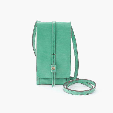 Token Light Green Leather Small Crossbody