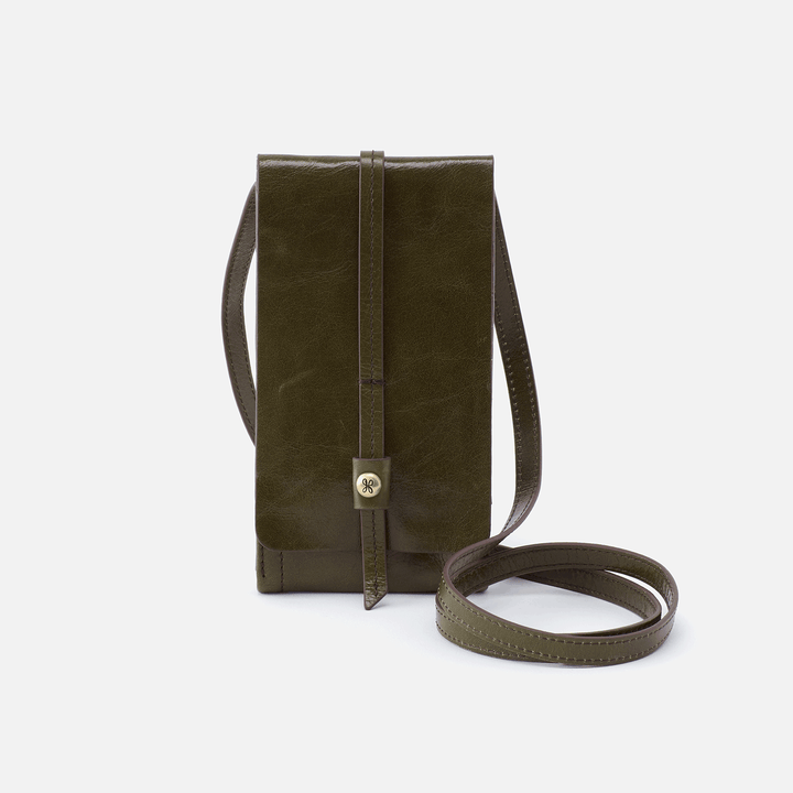 Token Green Leather Wallet Crossbody