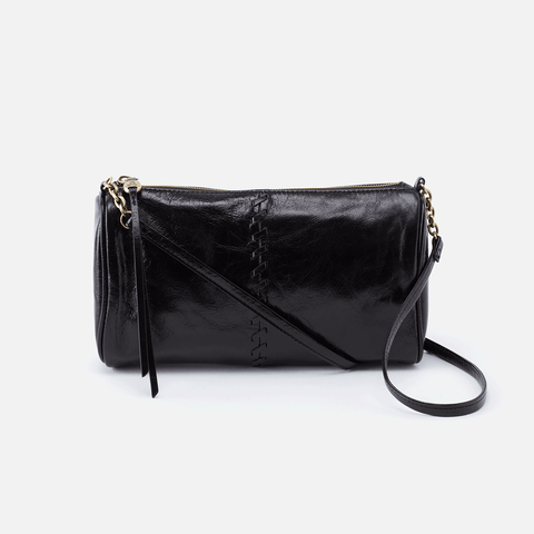 Topaz Black Leather Crossbody