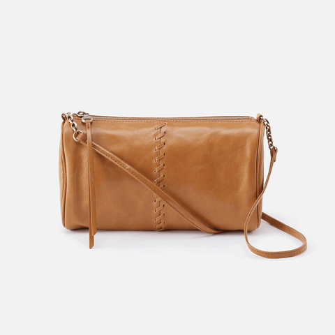 Topaz Cognac Brown Leather Crossbody